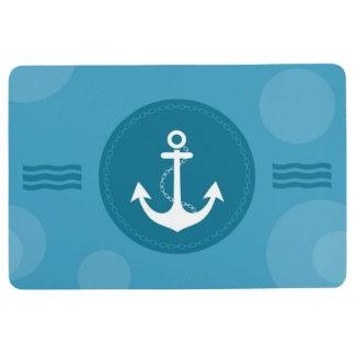 いかりの航海のでモダンな青 フロアマット