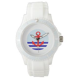 いかりの航海のなプリントの腕時計 リストウオッチ