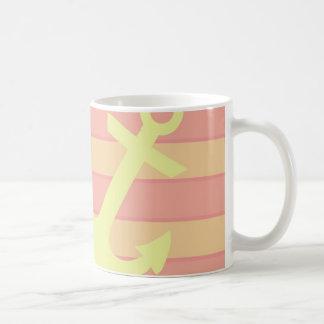 いかりは縞で飾り、 コーヒーマグカップ
