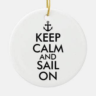 いかりは航海のなカスタムの平静そして帆を保ちます セラミックオーナメント