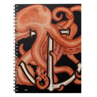 いかり上のオレンジタコ ノートブック