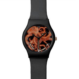 いかり上のオレンジタコ 腕時計