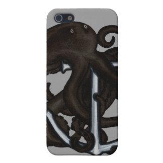 いかり上の黒いタコ iPhone 5 CASE