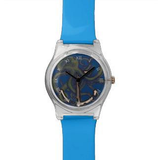 いかり上のSteampunkのタコ 腕時計