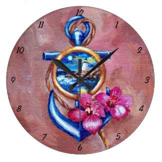 いかりTatoo ラージ壁時計