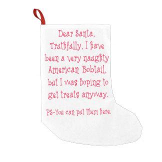 いけないアメリカのBobtail スモールクリスマスストッキング