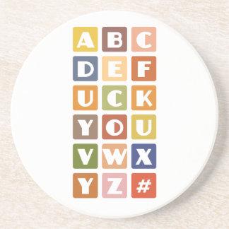 いけないアルファベットのコースター コースター