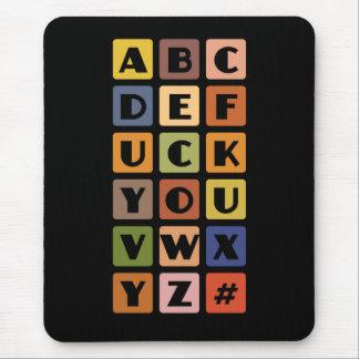 いけないアルファベットのmousepad マウスパッド