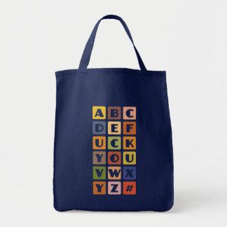 いけないアルファベットは袋に入れます-スタイル及び色を選んで下さい トートバッグ