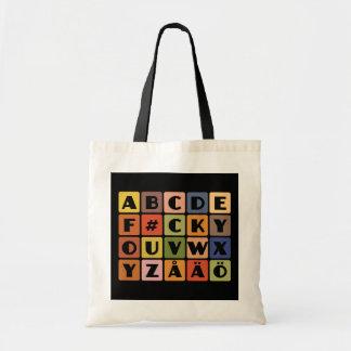 いけないアルファベット袋はスタイル及び色を選びます トートバッグ