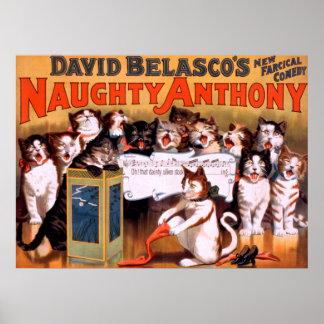 いけないアンソニーの劇場猫ポスター ポスター