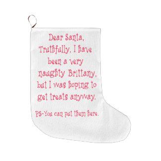 いけないブリッタニー ラージクリスマスストッキング