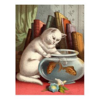 いけない猫の郵便はがき ポストカード