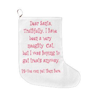 いけない猫 ラージクリスマスストッキング