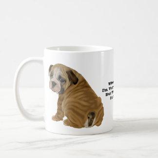 いけない英国のブルドッグの子犬 コーヒーマグカップ