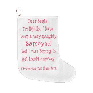 いけないSamoyed ラージクリスマスストッキング