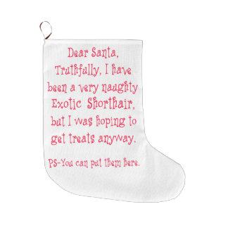 いけなくエキゾチックなShorthair ラージクリスマスストッキング