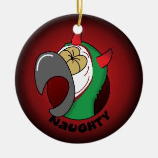 いけなく厳しいコンゴウインコのクリスマスのオーナメント セラミックオーナメント