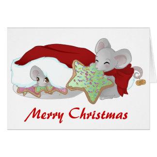 いけなく、内気なクリスマスのネズミ カード