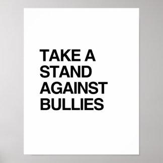 いじめっ子に対する立場を取って下さい ポスター