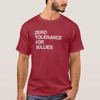 いじめっ子のための許容度ゼロ Tシャツ