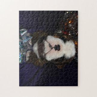 いじめっ子愛クリスマスの英国のブルドッグのパズル ジグソーパズル