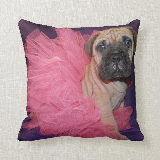 いじめっ子愛Bullmastiffのチュチュの枕 クッション