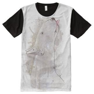 いじめっ子! ブルテリア犬 オールオーバープリントT シャツ