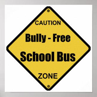 いじめっ子-自由学校制バス ポスター