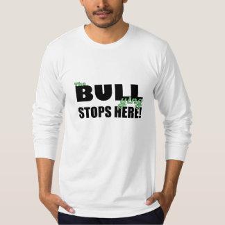 いじめることは緑の長袖のワイシャツをここにストップ Tシャツ