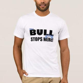 いじめることは青いTシャツをここにストップ Tシャツ
