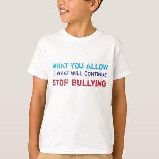 いじめることをいじめないキャンデー停止を学ぶこと Tシャツ