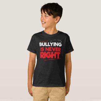 いじめることを止めて下さい Tシャツ
