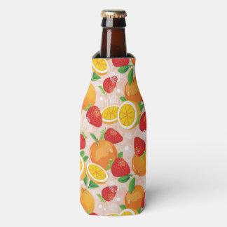 いちごが付いている抽象的なパターン ボトルクーラー