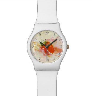いちごのしぶき! 水彩画 腕時計