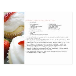 いちごのカップケーキのレシピ ポストカード