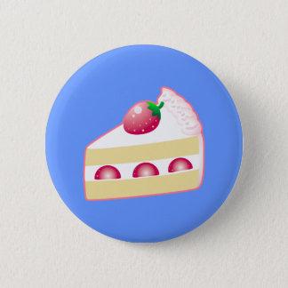 いちごのショートケーキ 5.7CM 丸型バッジ
