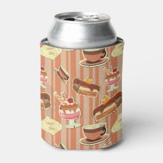 いちごのデザートが付いているヴィンテージカード 缶クーラー