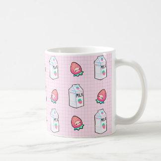 いちごのミルクのマグ コーヒーマグカップ
