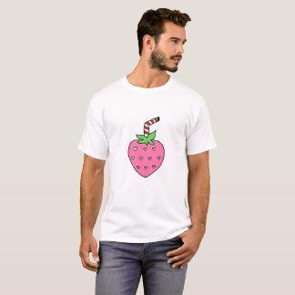 いちごのミルクのTシャツ、かわいいTシャツ、ヒップスター Tシャツ