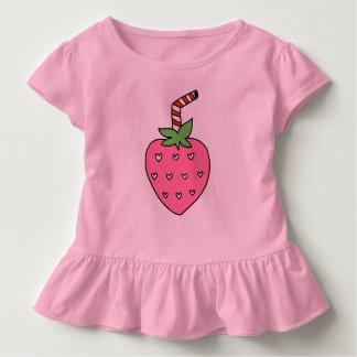 いちごのミルクはTシャツ、かわいいTシャツをからかいます トドラーTシャツ