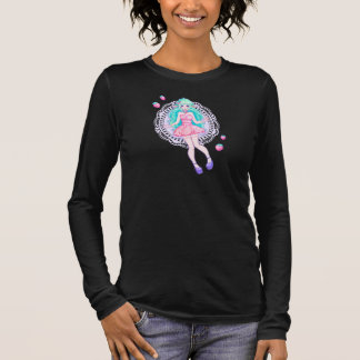 いちごのヤギのv首 長袖Tシャツ