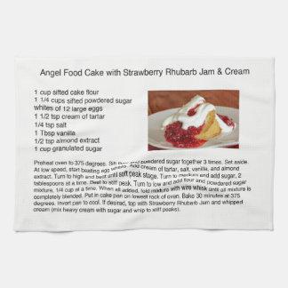 いちごの大黄が付いているエンゼル・ケーキ キッチンタオル