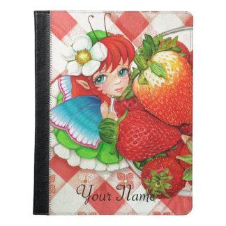 いちごの妖精のピクニック芸術のプリント iPadケース