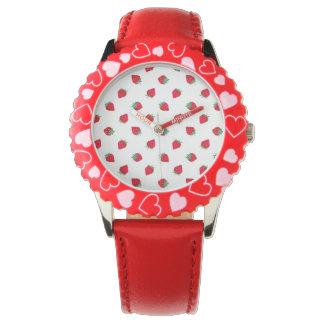 いちごの子供の調節可能な斜面のステンレス鋼 腕時計