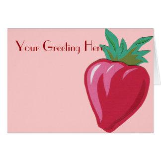 いちごの挨拶状 カード