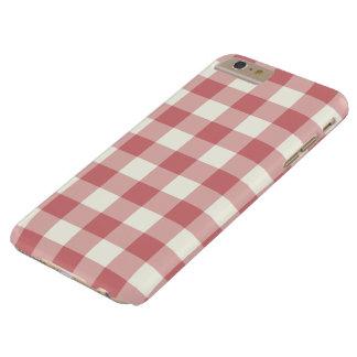 いちごの氷のギンガムのiPhone 6のプラスの場合 Barely There iPhone 6 Plus ケース