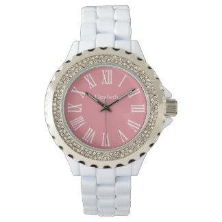いちごの氷の名前入りなラインストーンの腕時計 腕時計
