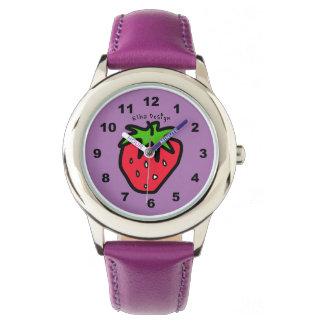 いちごの紫色 腕時計