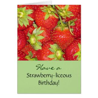 いちごの誕生日の挨拶状 カード